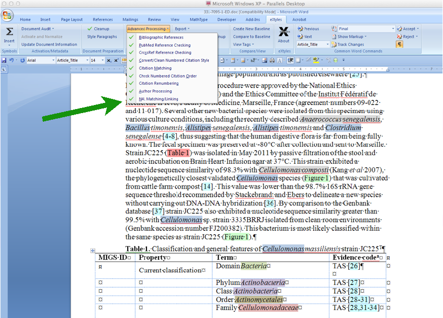 Inera's eXtyles NamesforLife module integrates our annotation services directly into Microsoft Word, giving editors and peer reviewers additional context for scientific and technical terms.